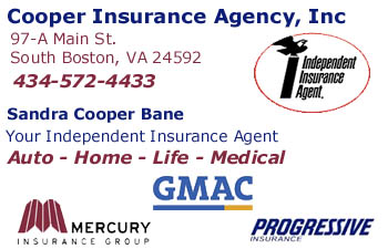 Click to e-mail for quote - Cooper Insurance - South Boston, VA