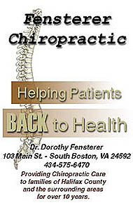 Fensterer Chiropractic - Helping Patients BACK to Health - Click for more information