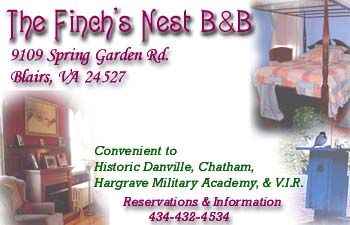 Finch's Nest Bed & Breakfast - Blairs, VA
