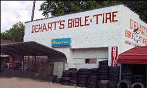 Redneck Super store - Bible and tire store