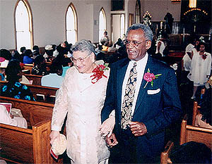 Fred and Bessie in church - A Celebration of Life and Love
