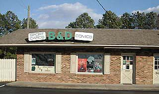 B&D Sport Cards and Comics - Store Front