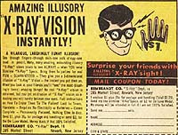 X-Ray Glasses ad from old comic book