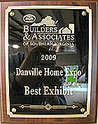 2009 Home Expo Best Display Plaque