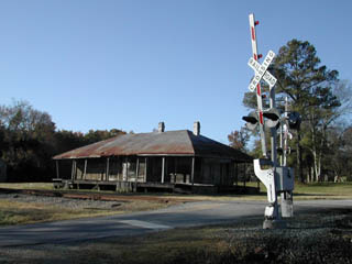 Fort Mitchell Depot and RR Crossing