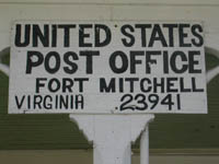 US Post Office Sign - Fort Mitchell, Virginia