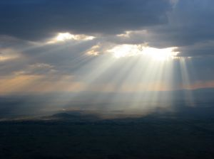 Like sunbeams breaking through the clouds...